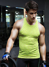 Yellow Seamless Fitness Sport Tank Top M-XL MH4311