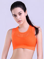 Orange Wide Straps Padded Sport Bra S-L MH4317