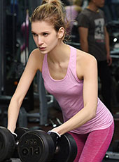 Women Seamless Pink Gym Sport Vest M-L MH4339