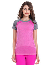 Short Sleeve Pink Women Sport T-shirts M-L MH4346