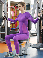 Purple Long Sleeve Sport Top Wear M-L MH4350