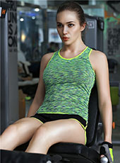 Women Green Gym Training Sport Vest M-L MH4353