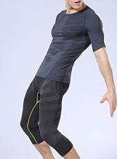 Fitness Breathable Men Sport Cropped Pants M-XL MH13128