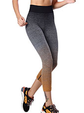Orange And Grey Sport Cropped Trousers M, L MH13116