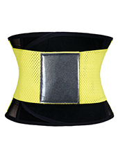 Yellow Fitness Ventilate Waist Girdle XS-3XL MH1262