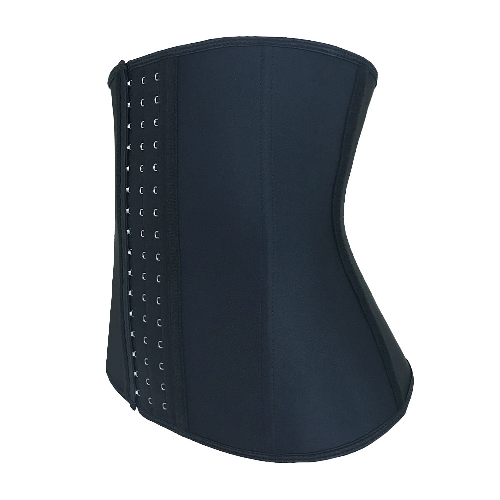 Nine Steel bone black bigger hook waist trainer XXS-6XL MH1066