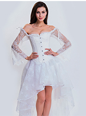Steel Bone White Wedding Bandage Corset S-2XL MH1462