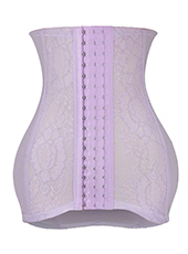 Purple Lace Hooks Waist Trainers For Postpartum Women XS-3XL MH1586