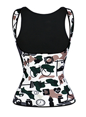 New Style Mixed Camouflage Neoprene  Waist Trainer Vest XXS-6XL MH1652