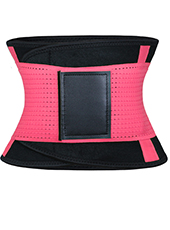 Fluorescent Pink Neoprene Slimming Waist Belt MH1660 S-2XL