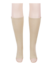 Nude Pressure Stretch Sporting Zipper Sliming Legs Shaper MH1625
