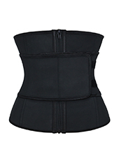 Black Two Layers Latex Waist Trainer With Belt XS-3XL MH1679