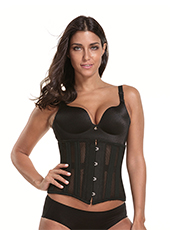 Black Short Steel Bone Waist Corset S-3XL MH1683