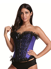 Sexy Beauty Purple Lace Waist Corset S-6XL MH1685