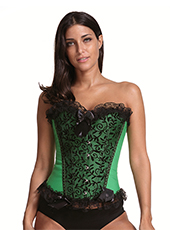 Sexy Beauty Green Lace Waist Corset S-3XL MH1687