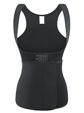 Black Neoprene Slimming Vest With Belt XS-6XL MH1701