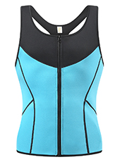 Men Blue Neoprene Slimming Vest XS-3XL MH1703