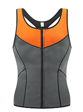 Men Grey Neoprene Slimming Vest XS-3XL MH1704