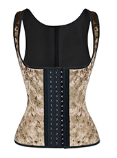 Brown 9 Steel Bones Latex Vest Waist Trainer XXS-3XL MH1708