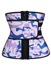Zipper Camouflage Latex Zipper Waist Trainer 3XS-6XL MH1694