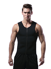 Black Men Neoprene Sweat with Zipper XS-3XL MH1723