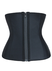 Nine Steel Bones Latex Waist Trainer With Zipper MH1726