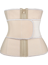 Nude Belt And Zipper Latex Waist Trainer 3XS-6XL MH1773