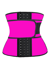 Pink Latex Waist Trainer With Hooks 3XS-6XL MH1761