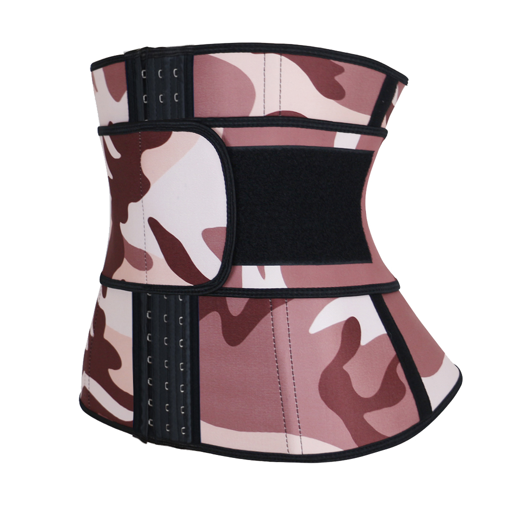 Camouflage Latex Waist Trainer Hooks 3XS-6XL MH1764