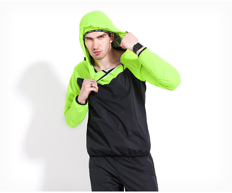 Stitching color couple fitness clothes men's sports fitness sweat suit MH1799