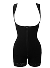 Black Butt Lifter Waist Trainer Zip Body Shaper MH1908