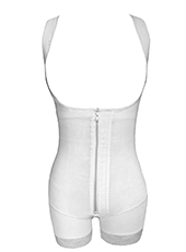Beige Butt Lifter Waist Trainer Zip Body Shaper MH1909