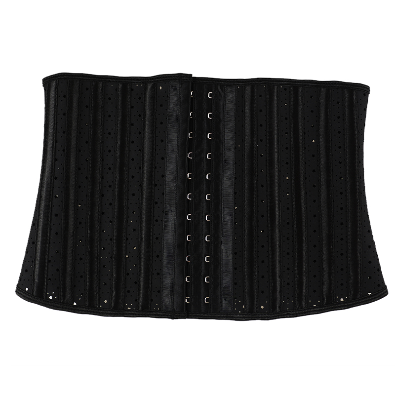Black Latex Star shaped Breathable Steel Bone corset MH1925