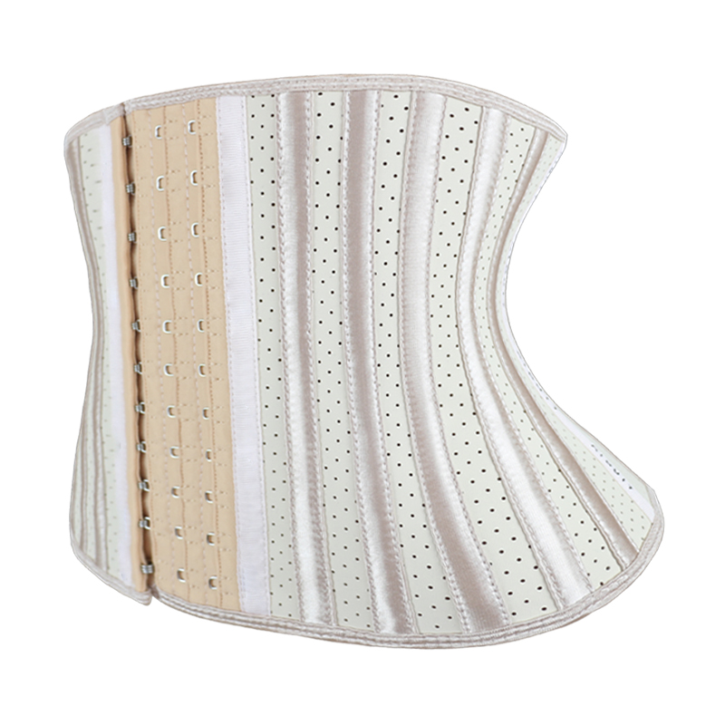 Nude Latex Star-shaped Breathable Steel Bone corset MH1924