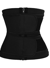 YKK Zipper Double Belt Neoprene Waist Trainer 3XS-6XL MH1754