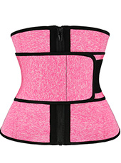 Snow Pink Neoprene Strap Zipper Sweat Waist Trainer Belt 3XS-6XL MH1948