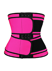 Double Belt Latex Waist trainer Pink MH1872P