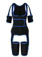 Blue Single Belt Thigh Shaper Vest With Arms Shaper MHW100050BL