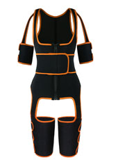 Orange Single Belt Thigh Shaper Vest With Arms Shaper MHW100050O