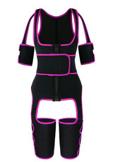 Pink Single Belt Thigh Shaper Vest With Arms Shaper MH100050P