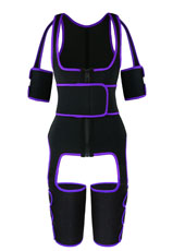 Purple Single Belt Thigh Shaper Vest With Arms Shaper MH100050PU