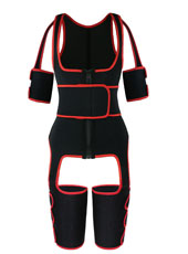 Red Single Belt Thigh Shaper Vest With Arms Shaper MH100050R