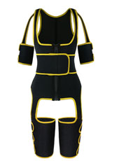 Yellow Single Belt Thigh Shaper Vest With Arms Shaper MH100050Y