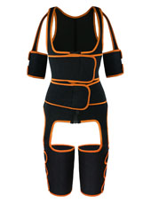 Orange Double StrapsThigh Shaper Vest With Arms Shaper MHW100051O