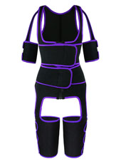 Purple Double StrapsThigh Shaper Vest With Arms Shaper MHW100051PU