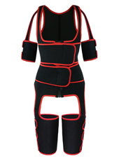 Red Double StrapsThigh Shaper Vest With Arms Shaper MHW100051R