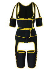 Yellow Double StrapsThigh Shaper Vest With Arms Shaper MHW100051Y