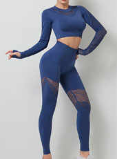 Women Long Sleeve Yoga Set Workout Fitness Clothing MH133555