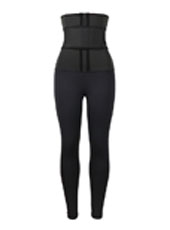 Neoprene Single belt waist trainer jumpsuit pantsMHW100129B