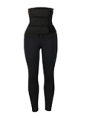 Neoprene Three belt waist trainer jumpsuit MHW100131B